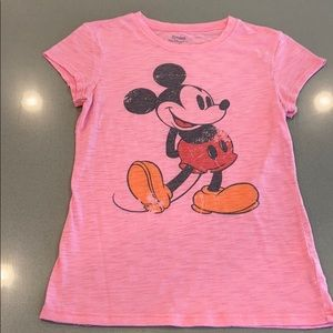 Pink Mickey Mouse top